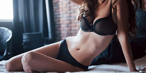 stock image of a female model showing her body